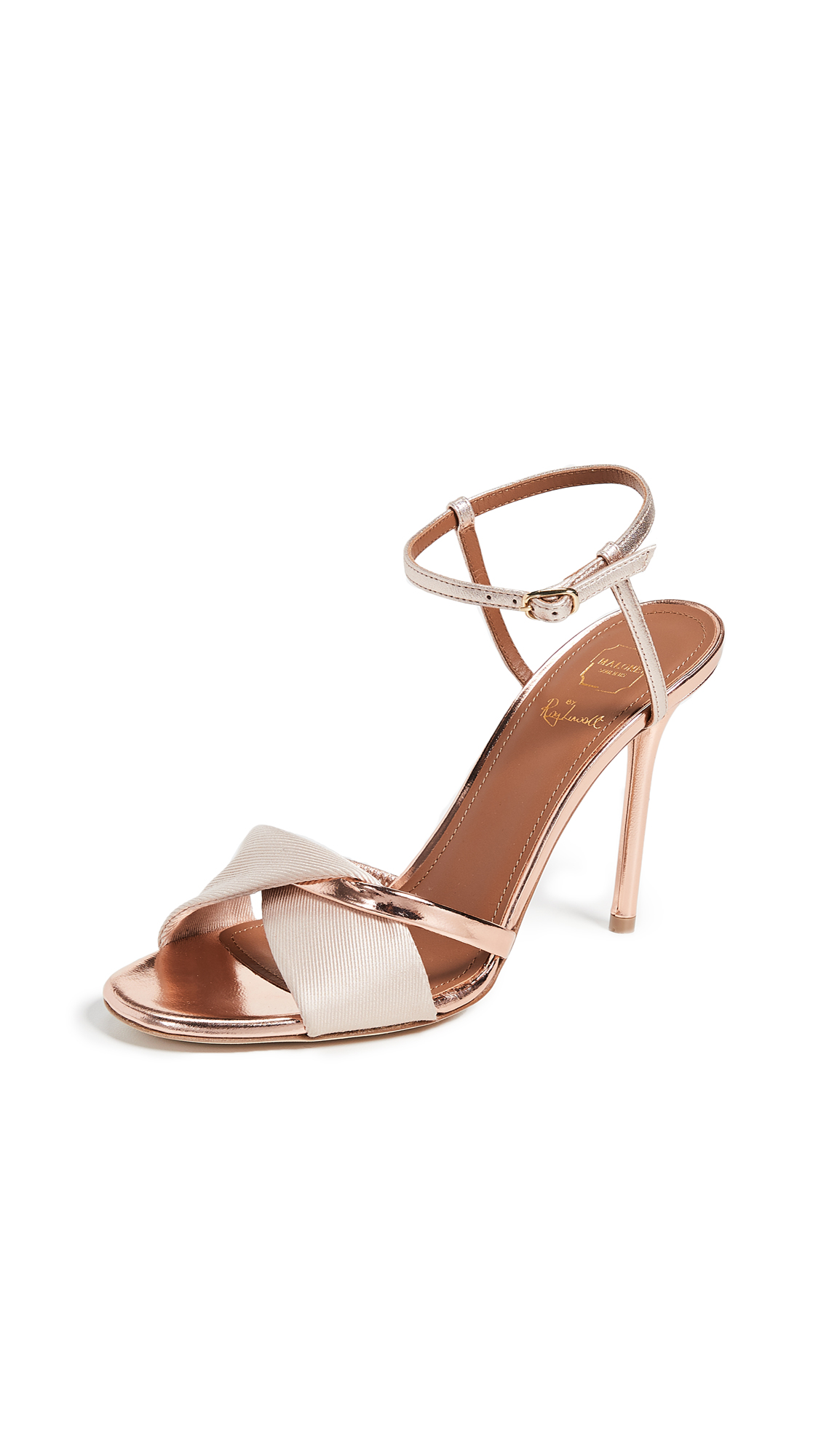 Malone Souliers Terry 100 Sandals - Nude/Rose Gold