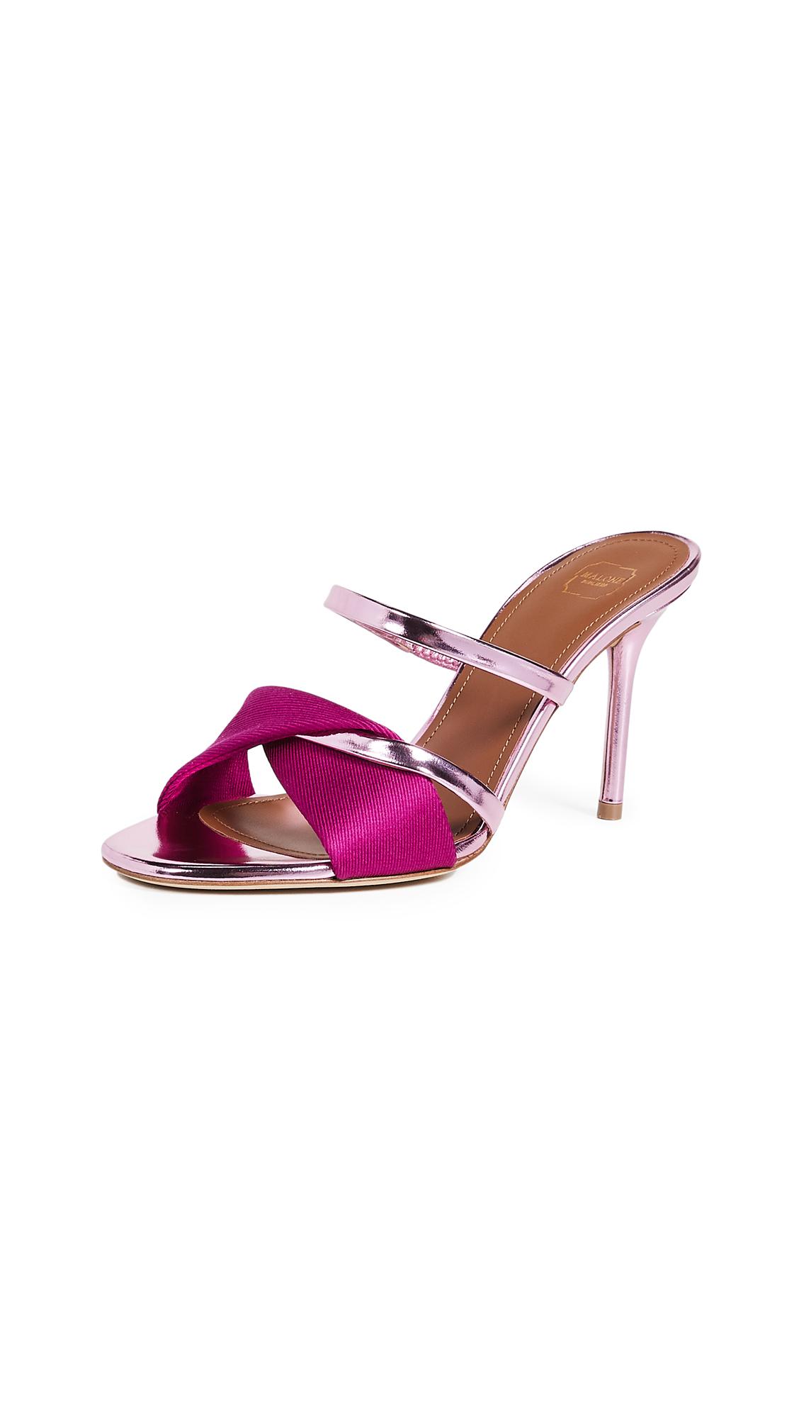 Malone Souliers Tasha 85 Sandals - Fuchsia/Pink