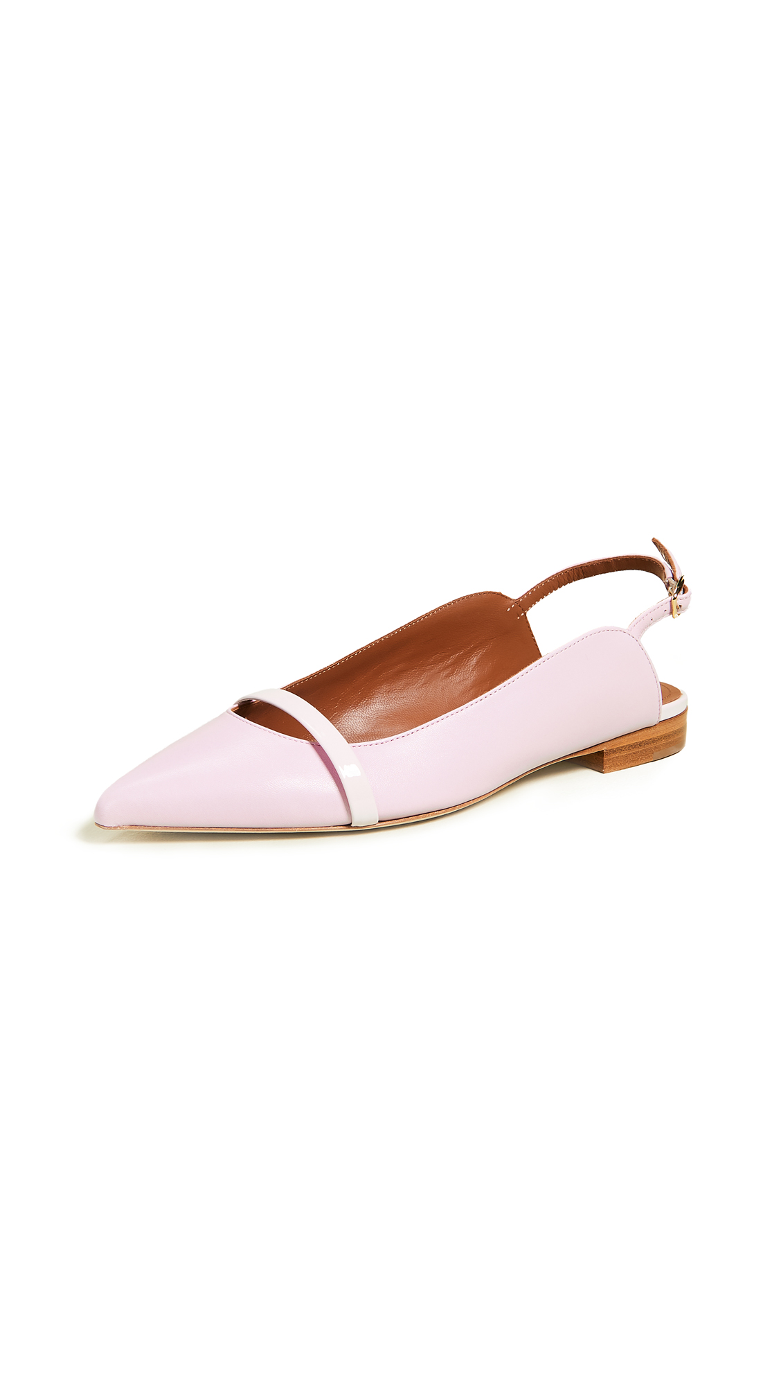 Malone Souliers Marion Slingback Flats - Pink/Baby Pink