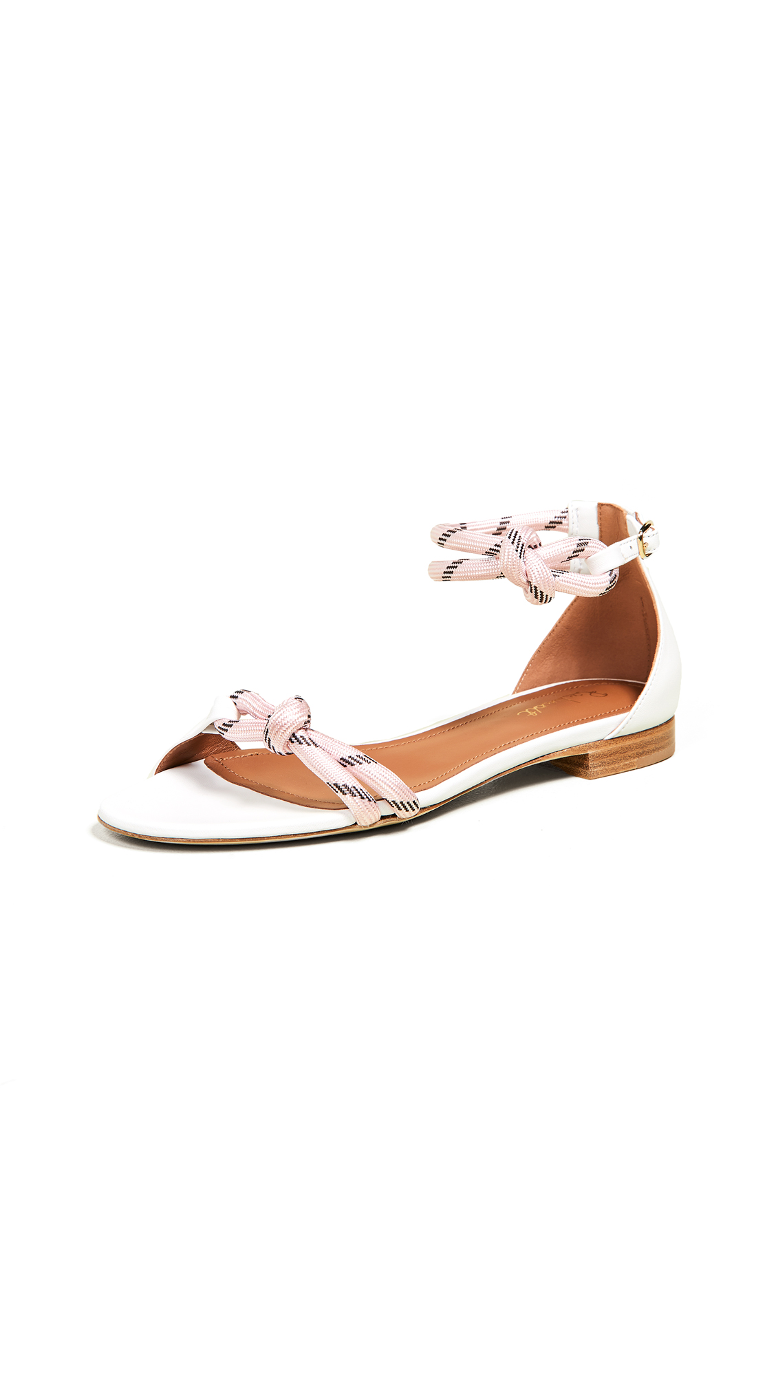 Malone Souliers Fenn Flat Sandals - White/Pink