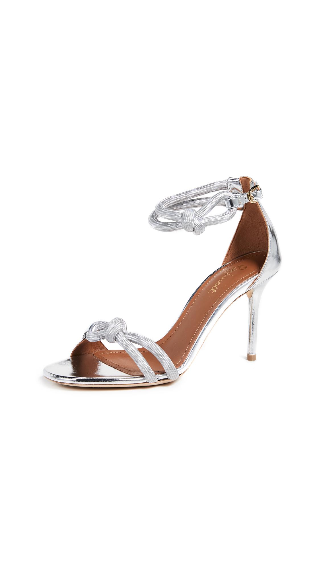 Malone Souliers Filipa 85 Sandals - Grey/Silver