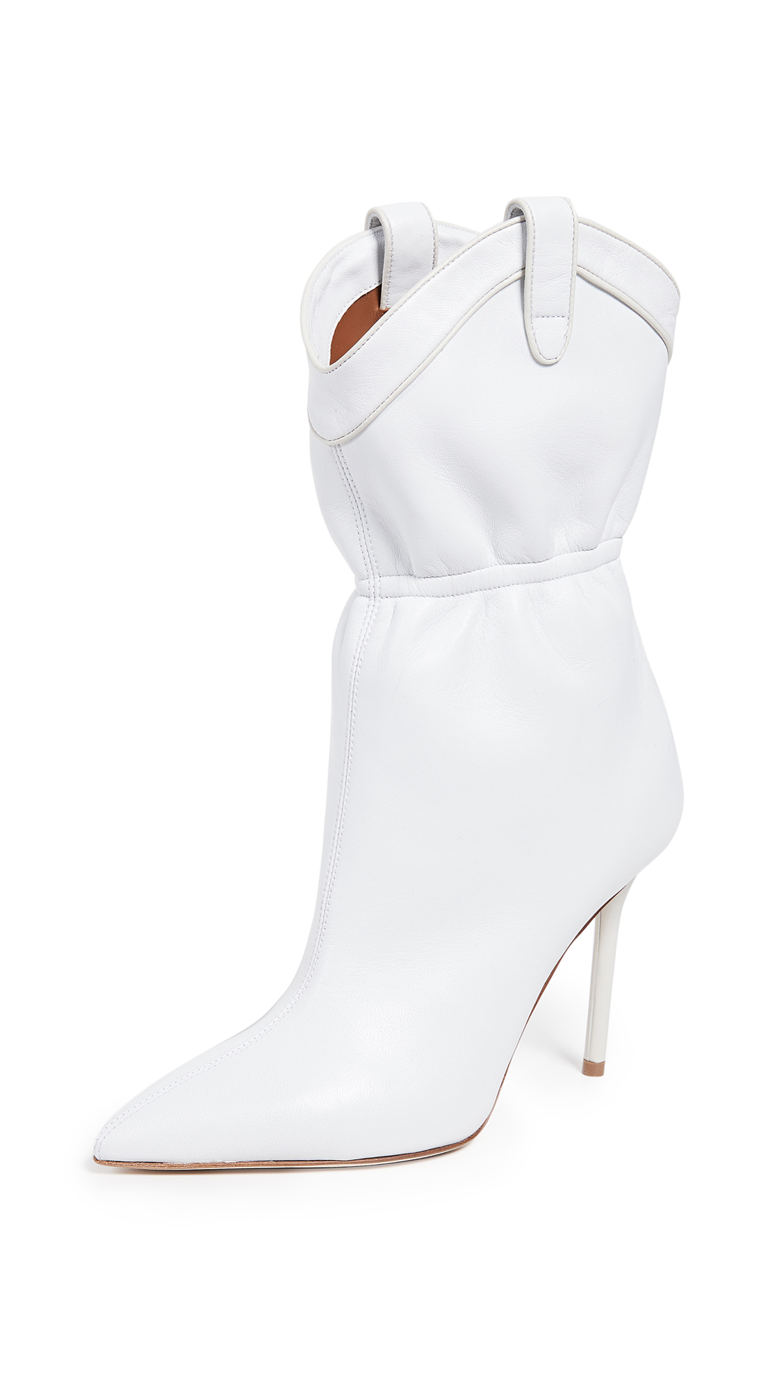 Malone Souliers Daisy 100mm Boots - White/Cream