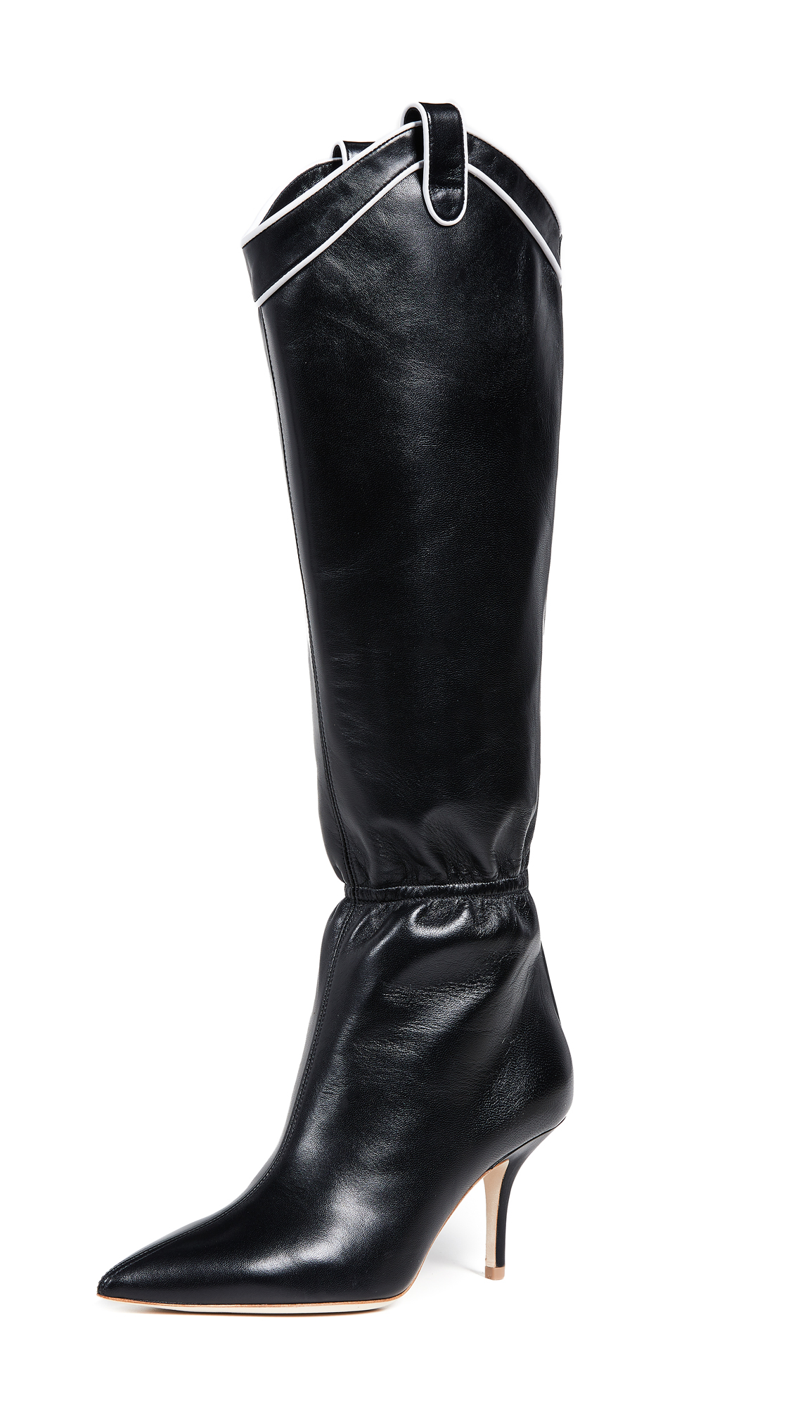 Malone Souliers Daisy Tall Boots - Black/White