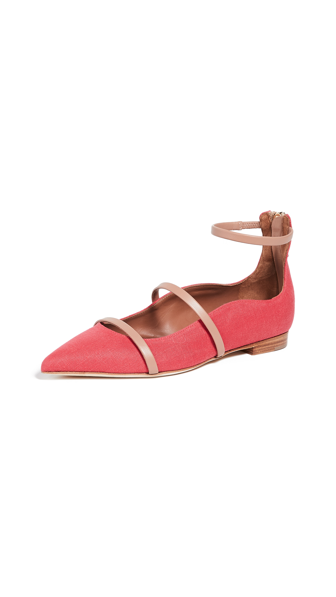 Malone Souliers Robyn Flats - Red/Nude