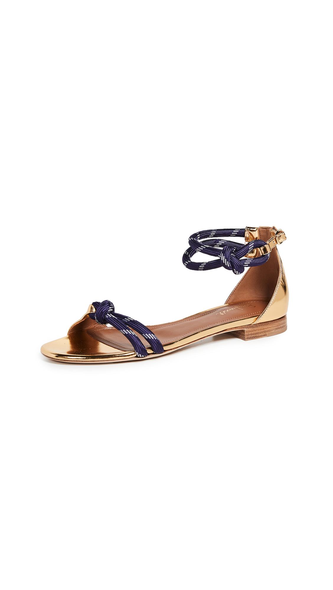 Malone Souliers Fenn Flat Sandals - Gold/Navy