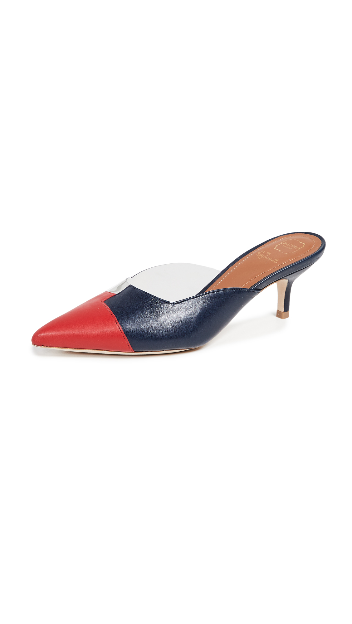 Malone Souliers Blake 45 Pumps - Grey/Red/Midnight