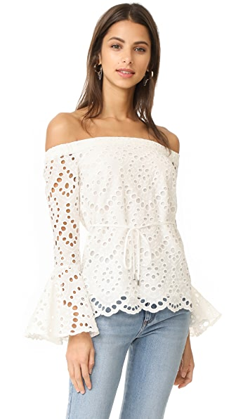 Ministry of Style Waves Off the Shoulder Top