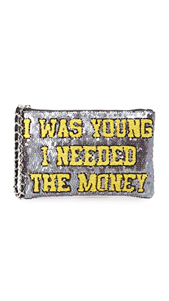 Mua Mua I Was Young I Needed The Money Zip Pouchette