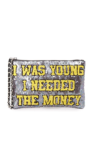 Mua Mua I Was Young I Needed The Money Zip Pouchette