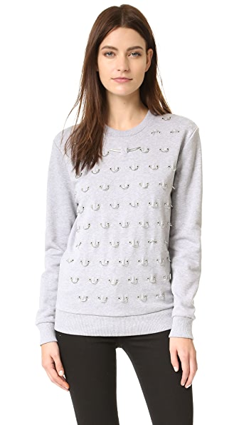 Mugler Sweatshirt with Hardware