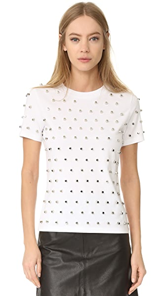Mugler Short Sleeve T-Shirt - Optic White