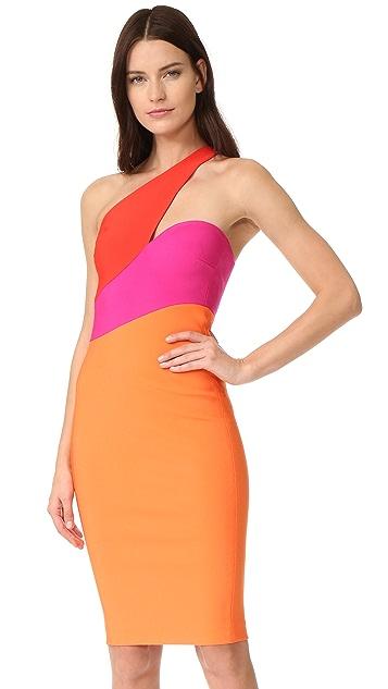 Mugler One Shoulder Dress