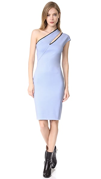 Mugler One Shoulder Dress - Horizon