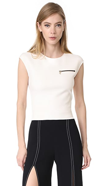 Mugler Sleeveless NeopreneTop