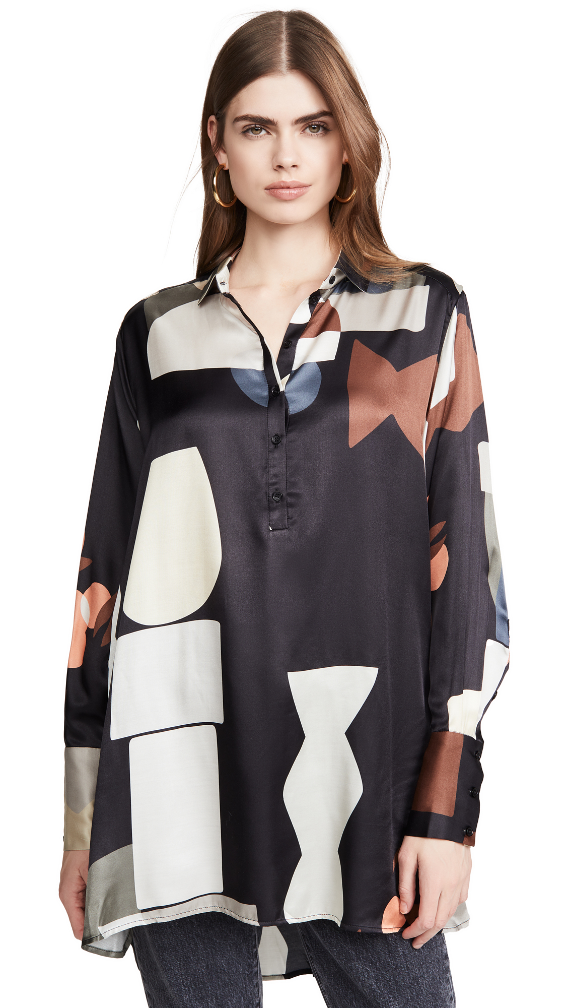 Photo of MUNTHE Emotional Tunic - shop MUNTHE Tops, Button Down Shirts online