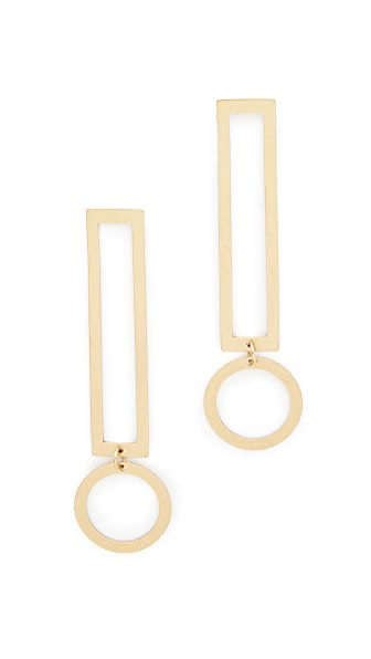 Modern Weaving Thin Exclamation Earrings In Gold