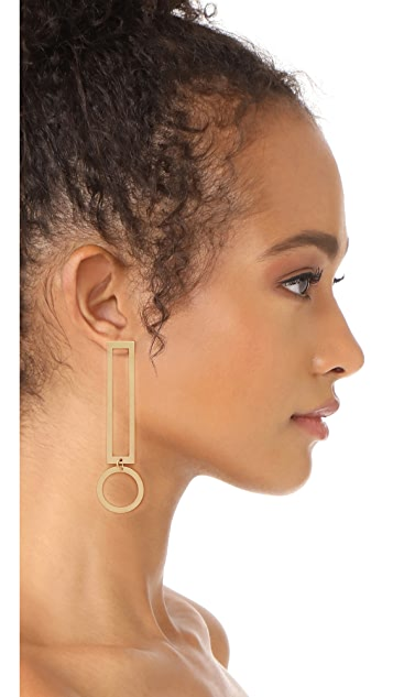 Modern Weaving Thin Exclamation Earrings