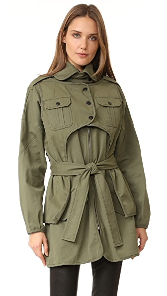 Marissa Webb Nicholas Canvas Coat - Military Green