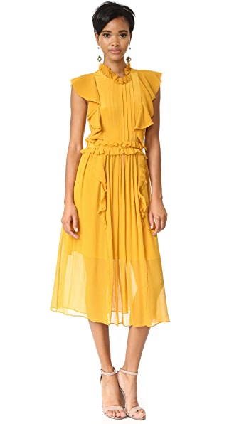 Marissa Webb Florence Silk Dress - Marigold