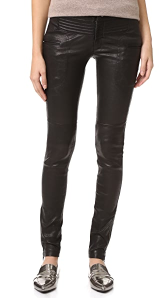 Marissa Webb New Binta Leather Moto Pants