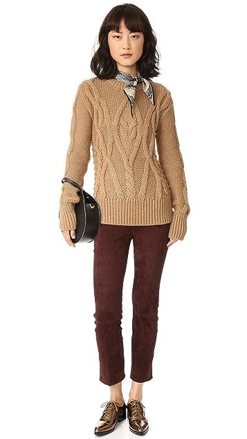 Marissa Webb Gordon Mixed Cable Sweater