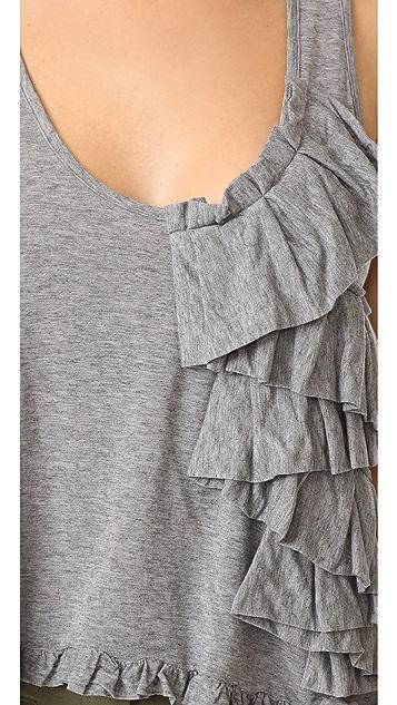 Marissa Webb Mariposa Knit Ruffle Top