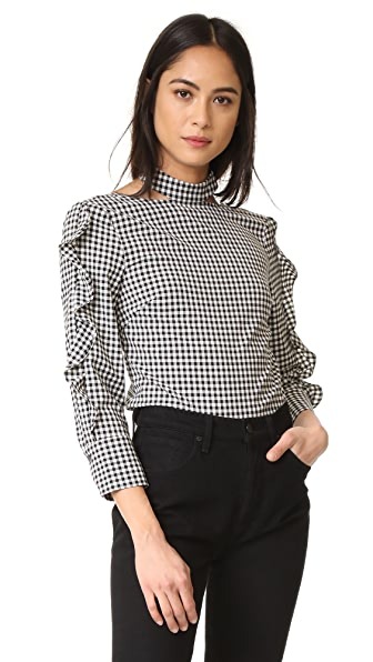 Marissa Webb Effy Gingham Blouse - Birch