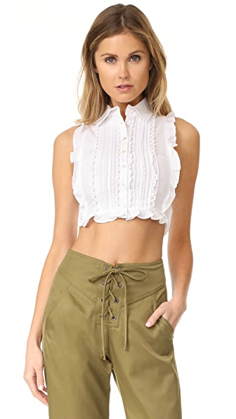 Marissa Webb Marcy Dickie Top - White