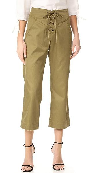 Marissa Webb Укороченные брюки Parker со шнуровкой