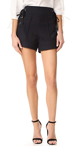 Marissa Webb Marie Lace Up Shorts