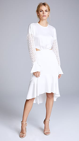 Marissa Webb Benson Crepe & Lace Dress