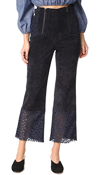 Marissa Webb Victoria Cropped Pants In Black Combo