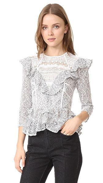 Marissa Webb Gabrielle Lace Blouse at Shopbop
