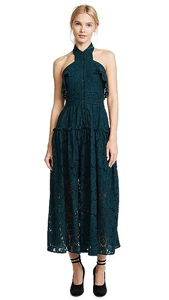 Marissa Webb Elias Bloom Lace Dress In Harbor Blue