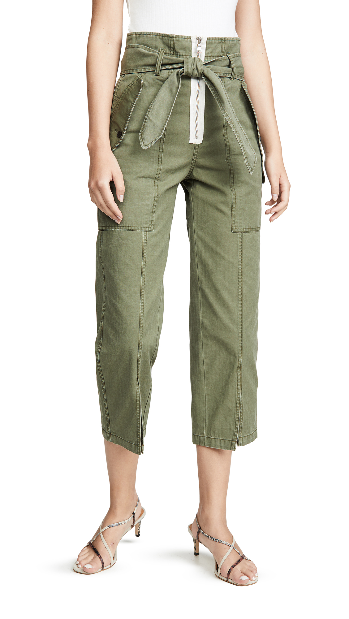 Buy Marissa Webb online - photo of Marissa Webb Reid Herringbone Canvas Pants