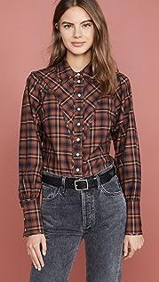 Marissa Webb Huxley Westorian 格子衬衫