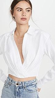Marissa Webb Льняная рубашка Maxwell