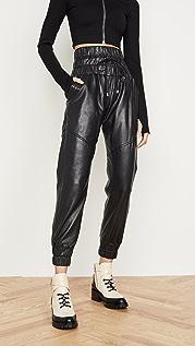 Marissa Webb Кожаные брюки для бега Dalton