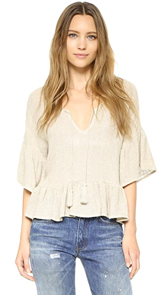 Maven West Lenette Peasant Top with Tassels