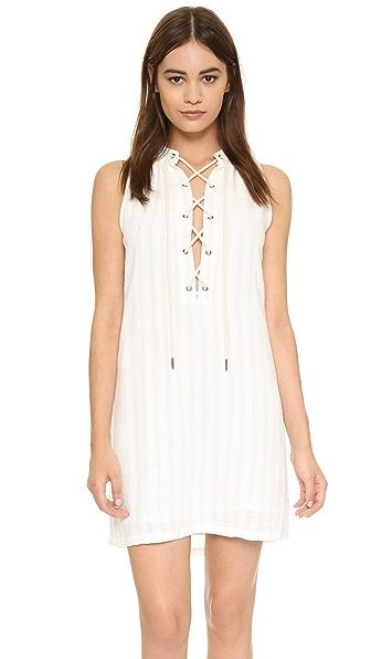 Maven West Sarna Lace Up Shift Dress - Linen