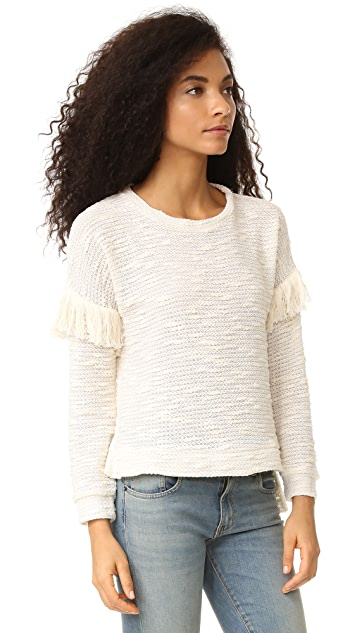Maven West Alice Drop Shoulder Fringe Sweater