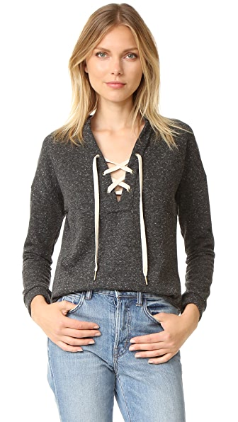 Maven West Tyler Lace Up Sweatshirt
