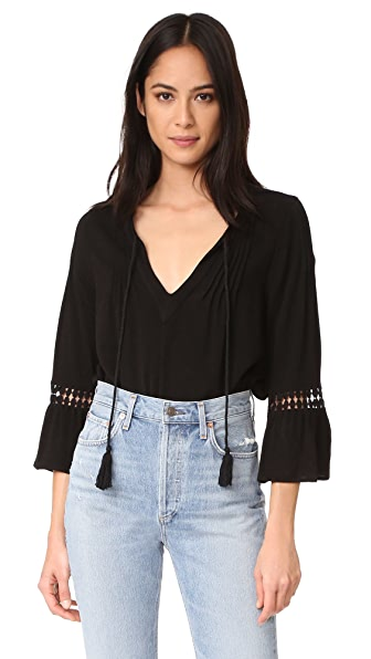 Maven West Peasant Ruffle Top
