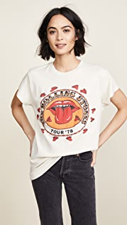 MADEWORN ROCK Rolling Stones 1978 Rock 印花 T 恤