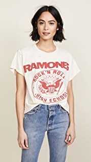 MADEWORN ROCK Ramones 1979 Rock 印花 T 恤