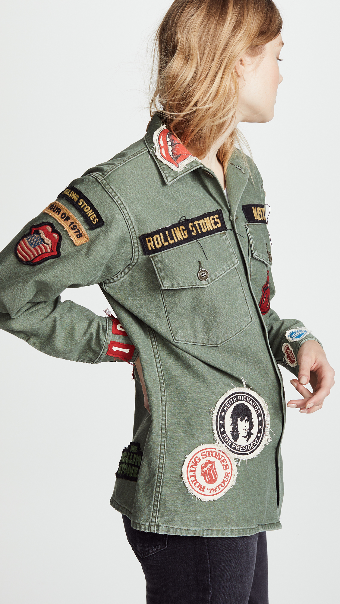 e9aa544f81634 MADEWORN ROCK Rolling Stones 1975 Army Jacket | SHOPBOP