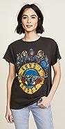 MADEWORN ROCK Guns N' Roses T 恤
