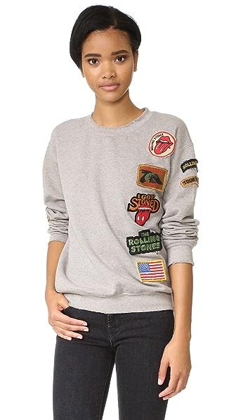 MADEWORN ROCK Rolling Stones 1978 Sweatshirt In Ash