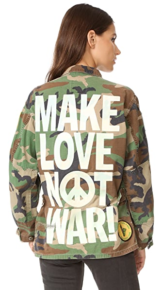 MADEWORN ROCK Make Love Not War Jacket