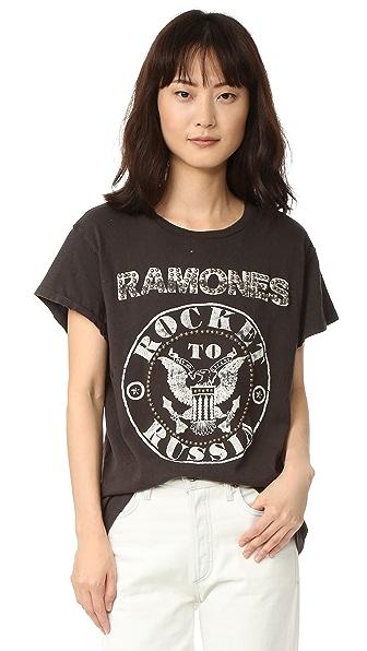 MADEWORN ROCK Ramones Rocket To Russia Tee